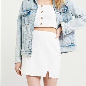 Abercrombie white linen skirt